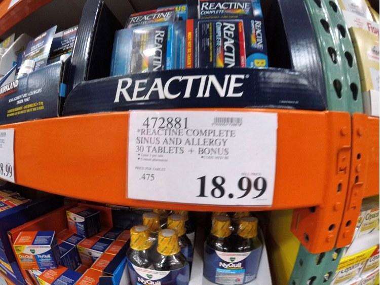Reactine Complete Sinus And Allergy 30 Tablets +Bonus